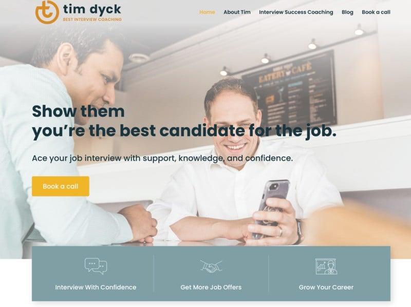 Best Interview Coaching storybrand website example