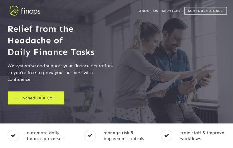 FinOps storybrand website example