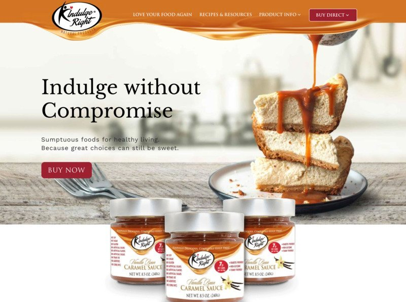 Indulge Right storybrand website example