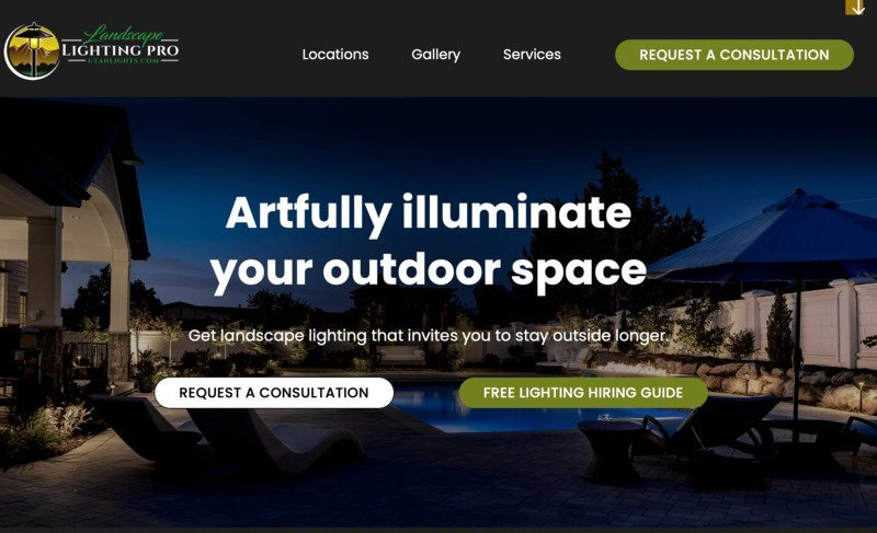 Utah Lighting storybrand website example