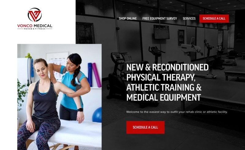 Vonco Medical storybrand website example