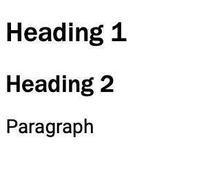 Website heading hierarchy