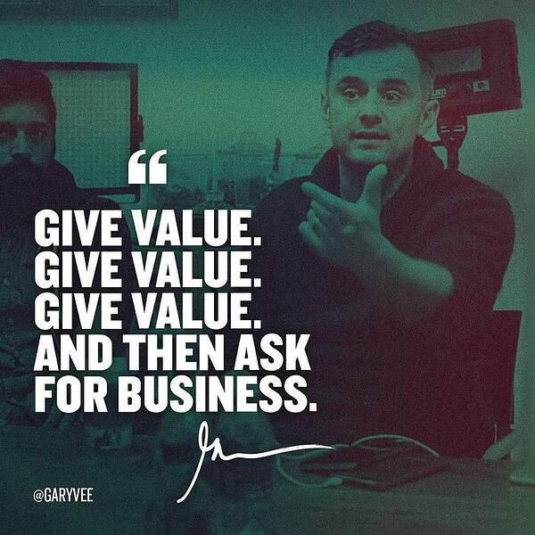 Give Value to your customers