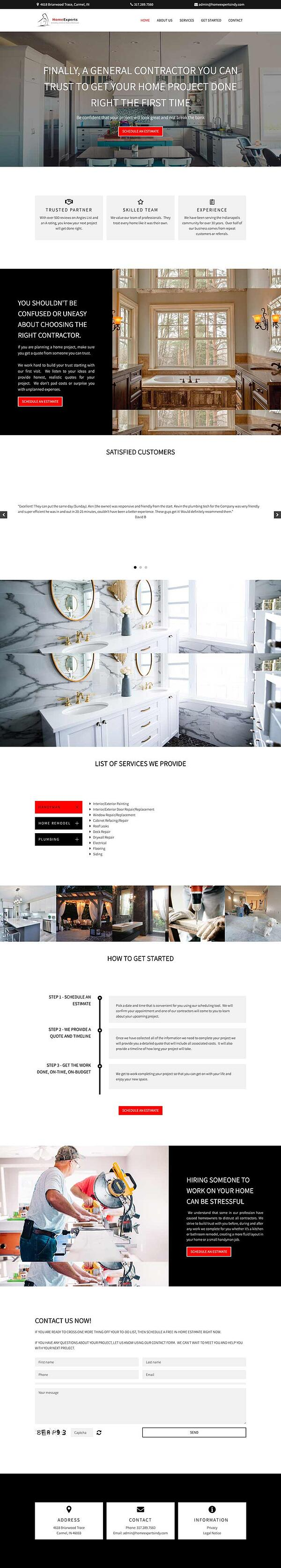 storybrand website example home experts